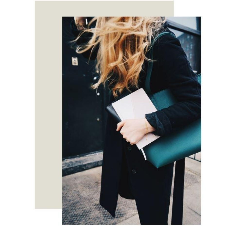 women carrying her finances