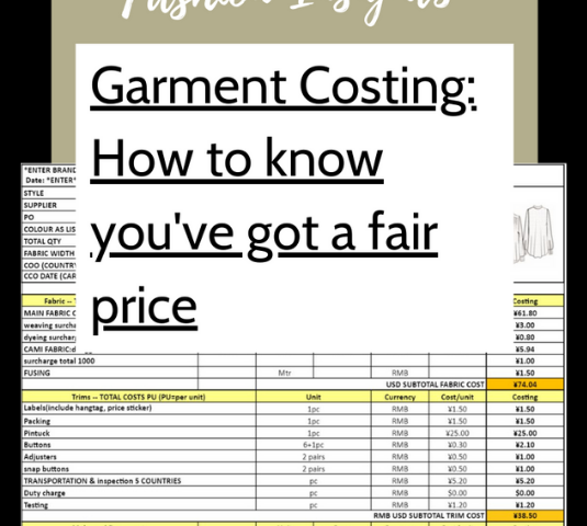 Fashion Insights - how to understand costings