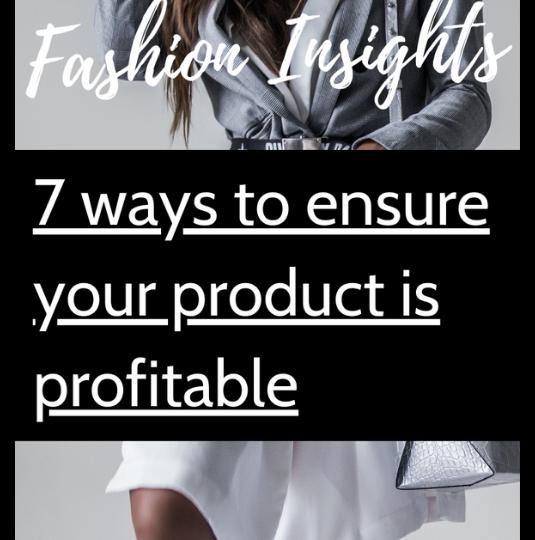 Fashion Insights - Product Profitability