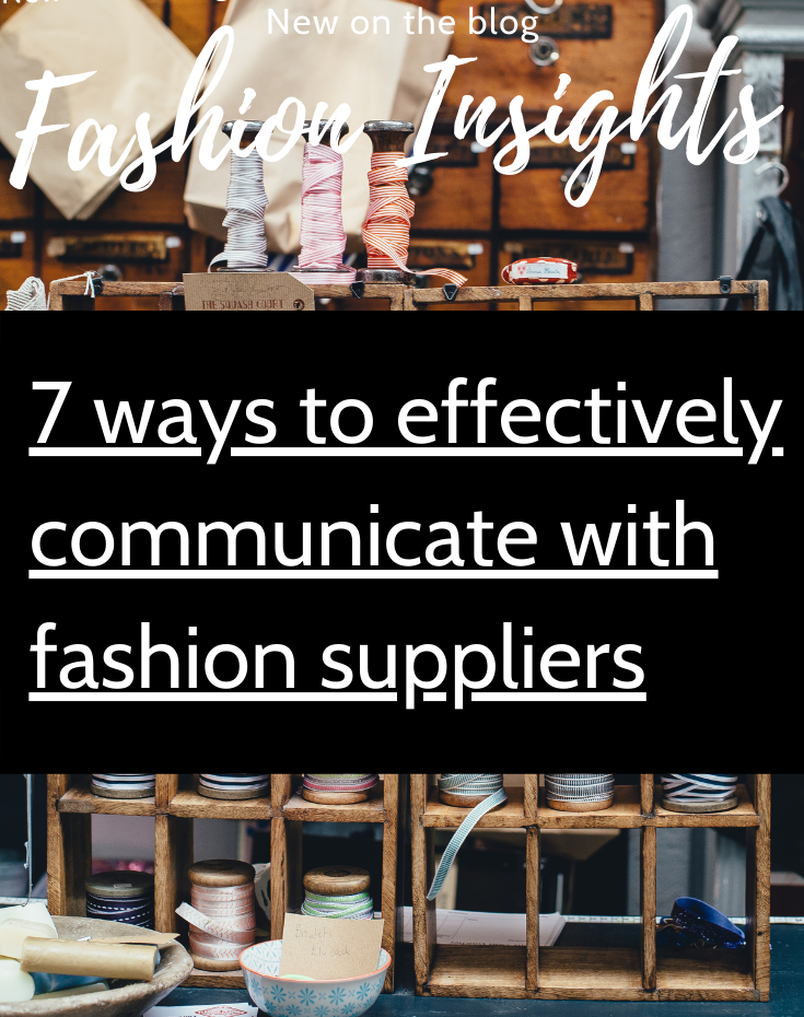ways to effectively communicate with fashion suppliers