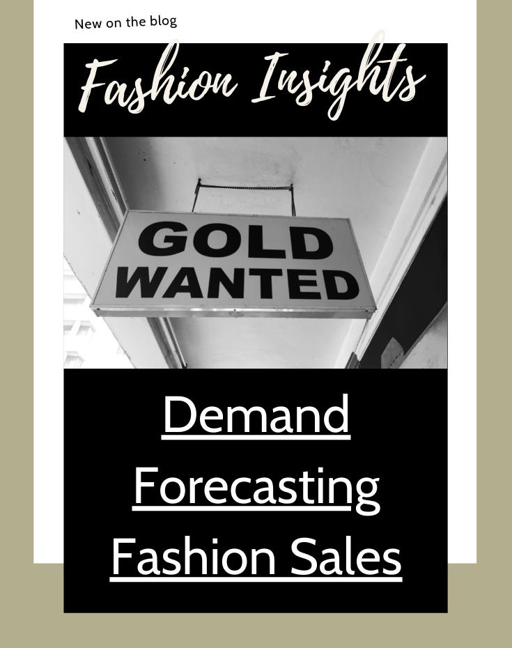 Demand forecasting fashion sales